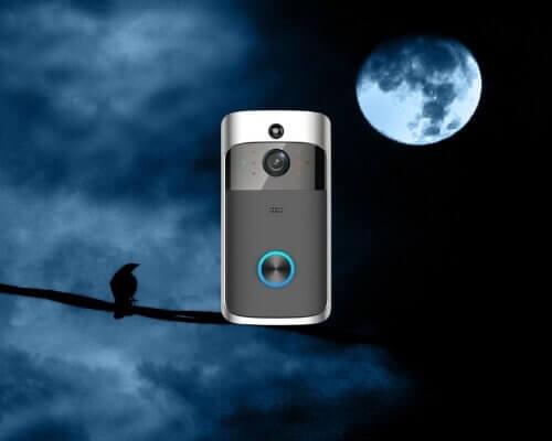 מצלמת אבטחה לדלת כניסה