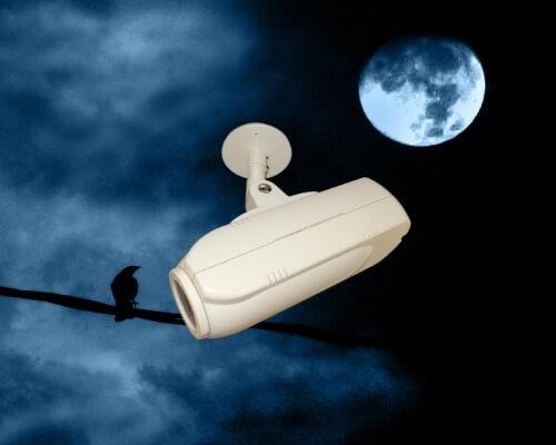 מצלמת אבטחה מקליטה
